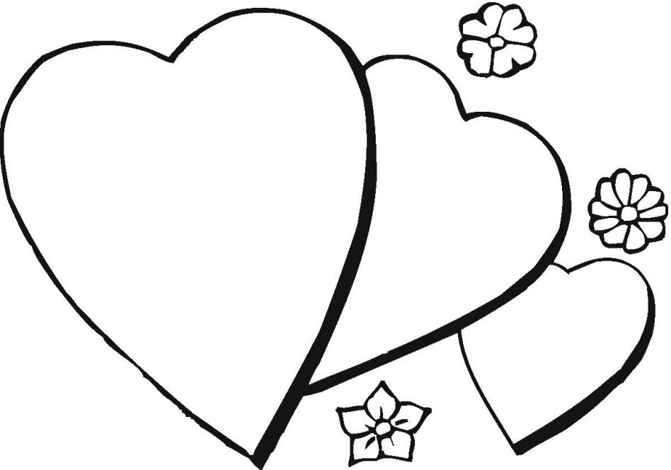 948x664 Coloring Pages Hearts Love Heart Valentin Day