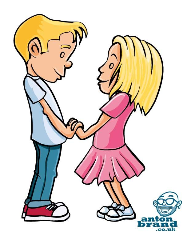 Love Couple Cartoon Image