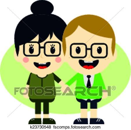 450x448 Clip Art Of Love Couple Cartoon Character K23730548