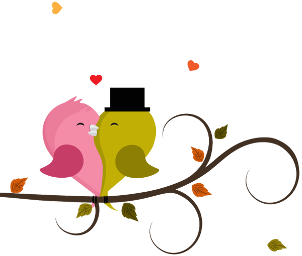 600x510 Cute Love Birds Couple Cartoon In Tree 1designshop