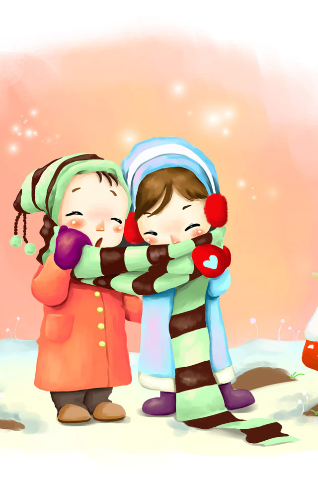 640x960 Graphics For Cute Love Couple Hd Wallpaper