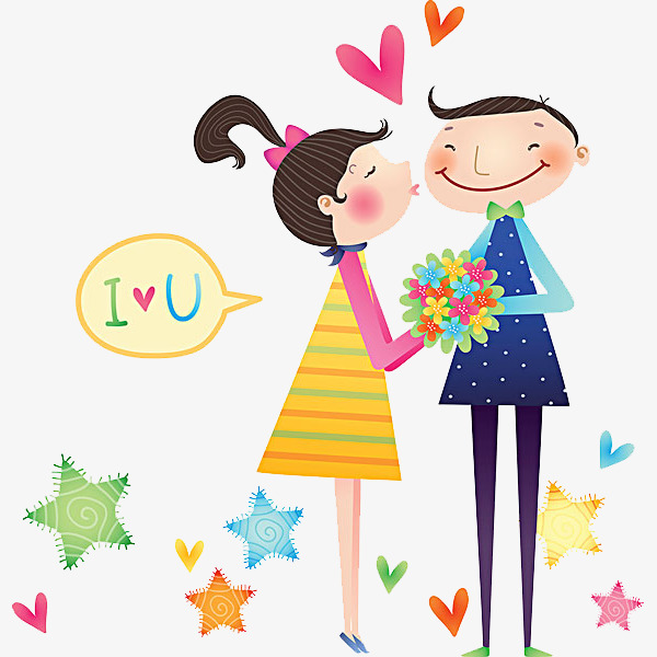600x600 Lovely Couple, Cartoon, Lovers, Love Png Image For Free Download