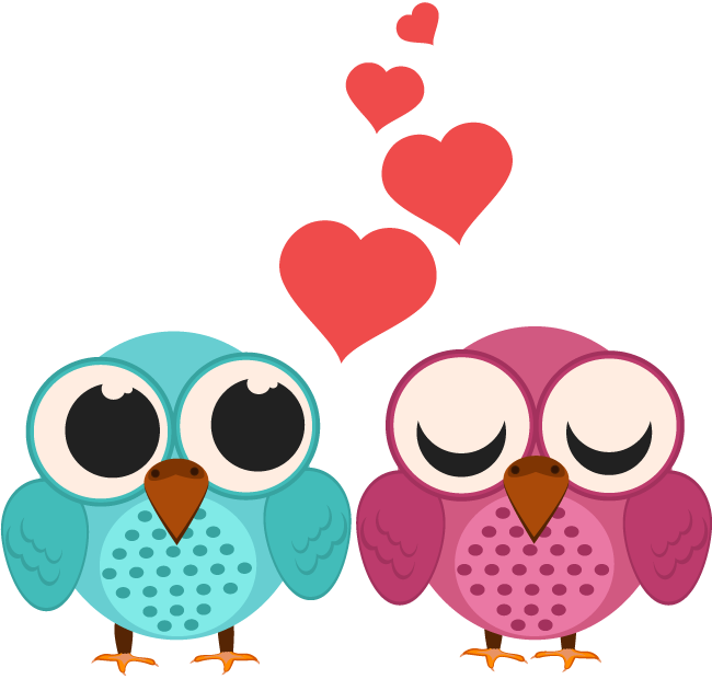 650x620 Valentines Day Loving Bird Couple Cartoon 1designshop