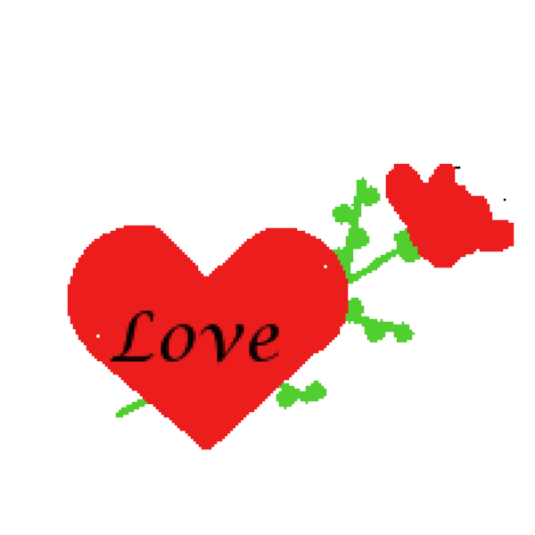 600x600 Hearts And Roses Clipart