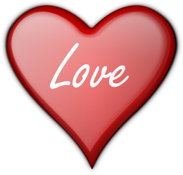 600x575 Love Heart Clipart