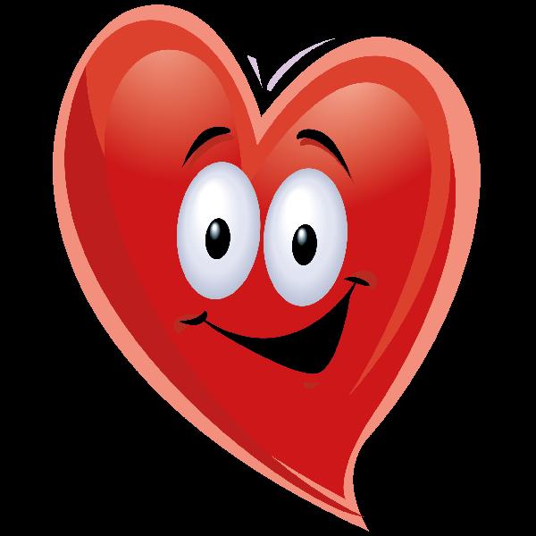 600x600 Hearts Clipart Smiley Face
