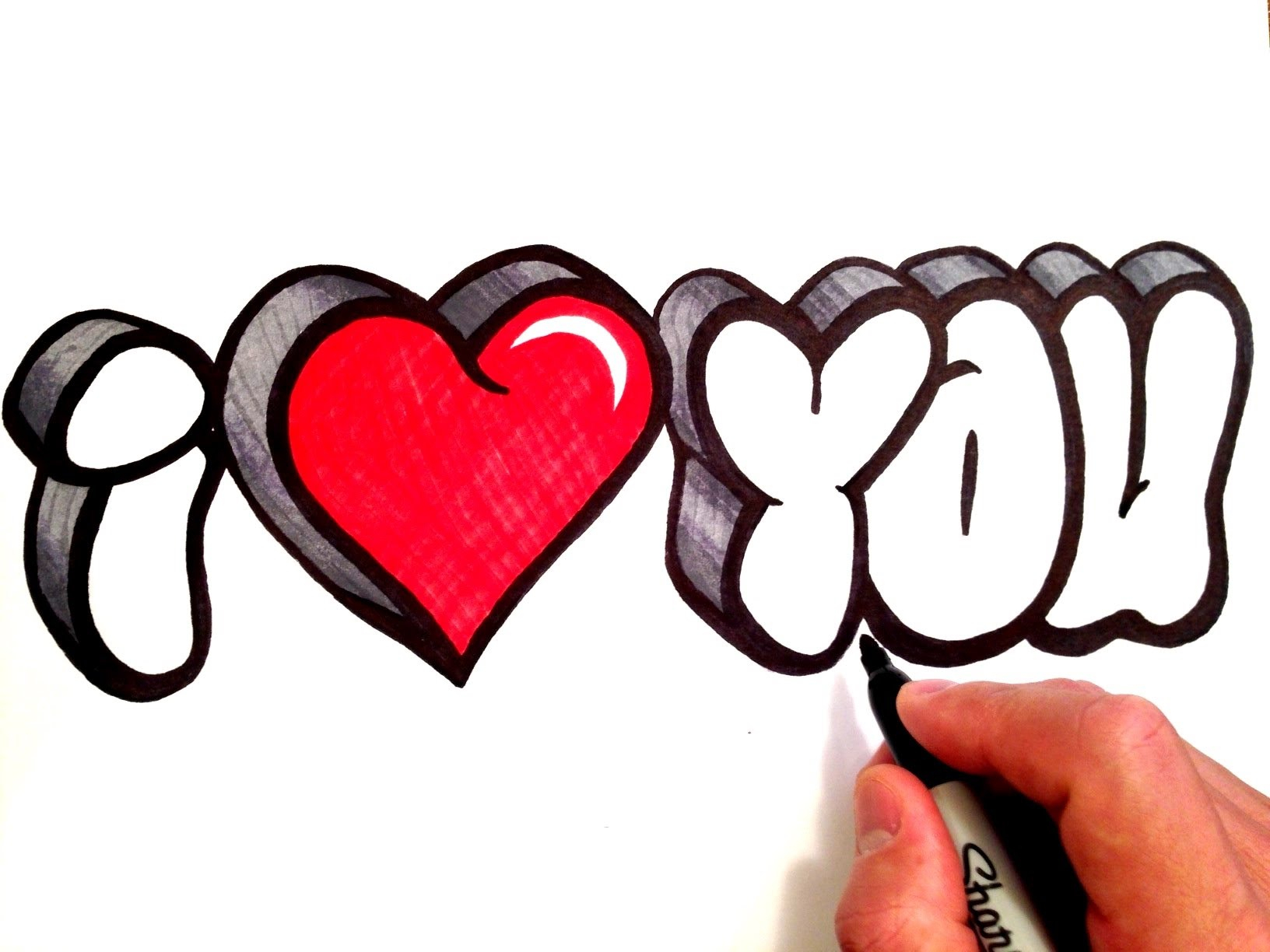 1632x1224 i love you drawings pencil with heart i love you drawings