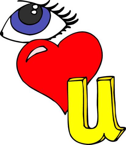 413x476 I Love You Heart Sketch