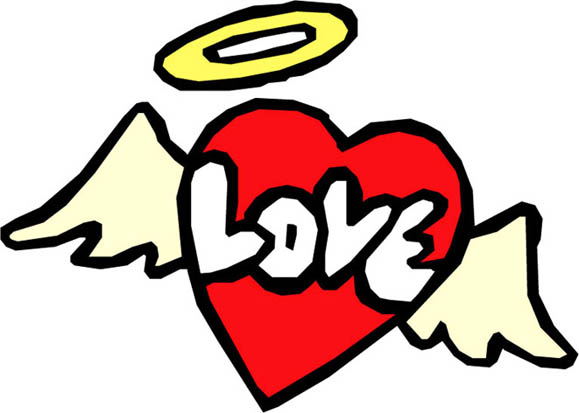 579x413 Love Heart Drawings Heart With Wings 2 Claudiason