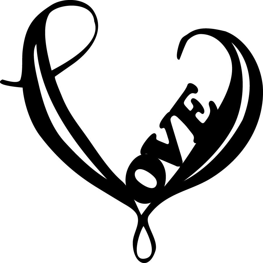 900x900 Black Love In Tribal Heart Tattoo Design By Matt