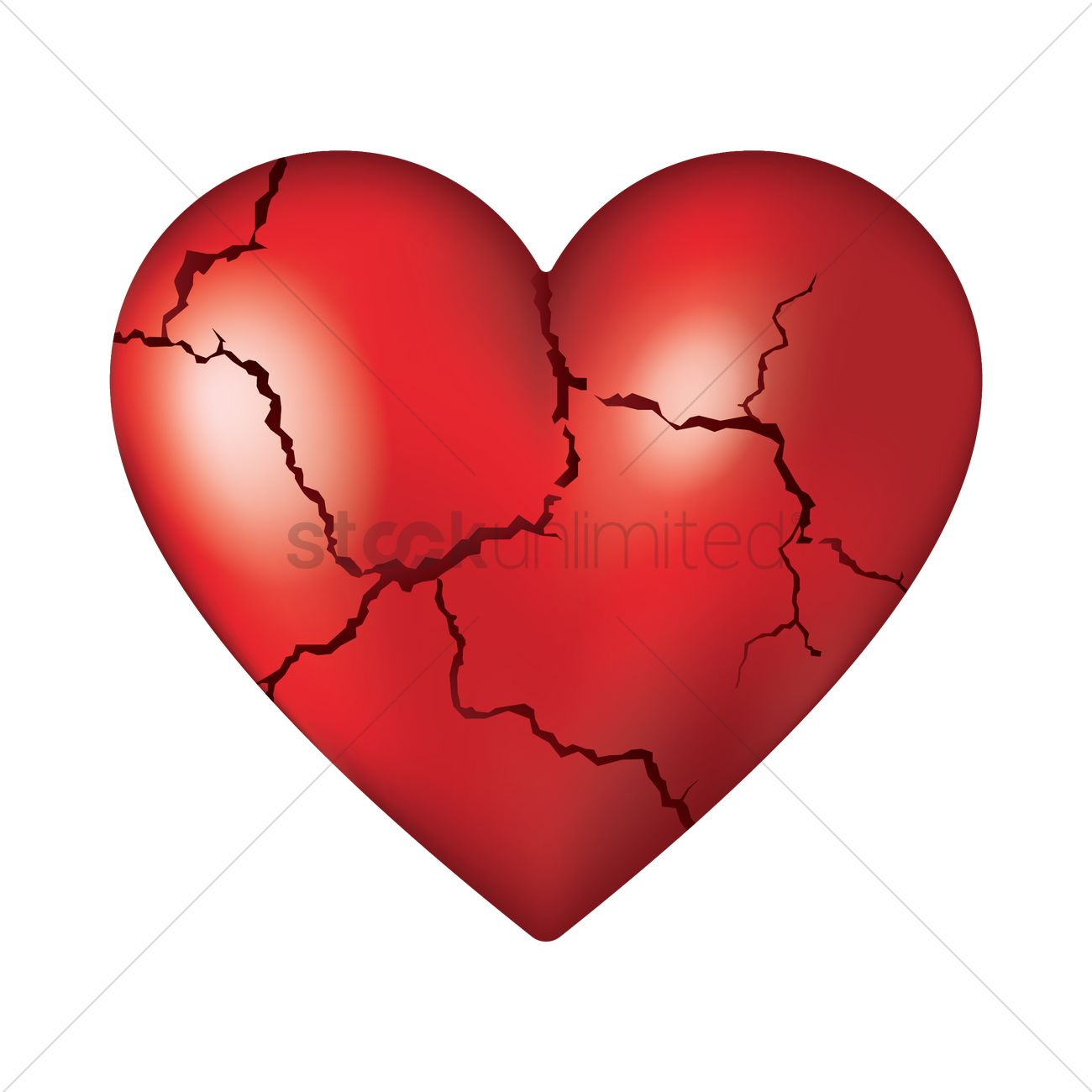 1300x1300 Cracked Heart Vector Image