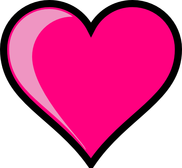600x557 Small Pink Heart Clipart