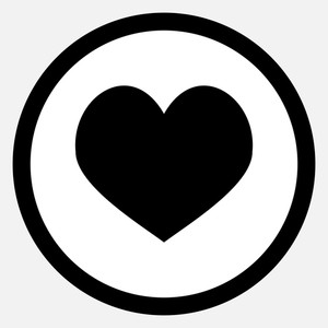 300x300 Black And White Valentine Heart Illustration. Royalty Free Stock
