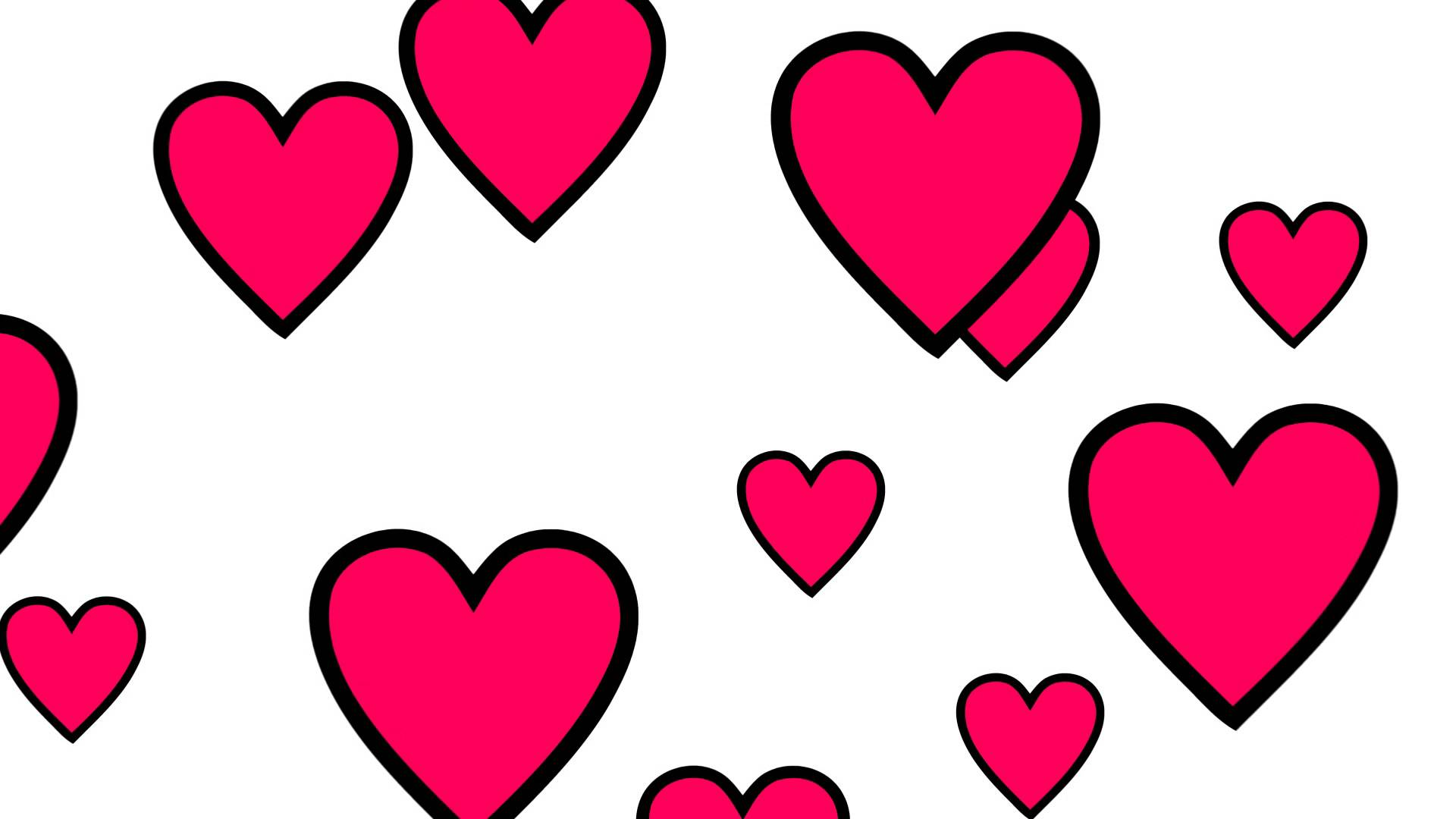 1920x1080 Background 02 Love Hearts Free Hd Mp4 Footage