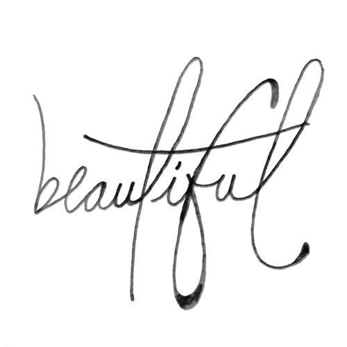 500x500 The Word Beautiful In Cursive Beautiful