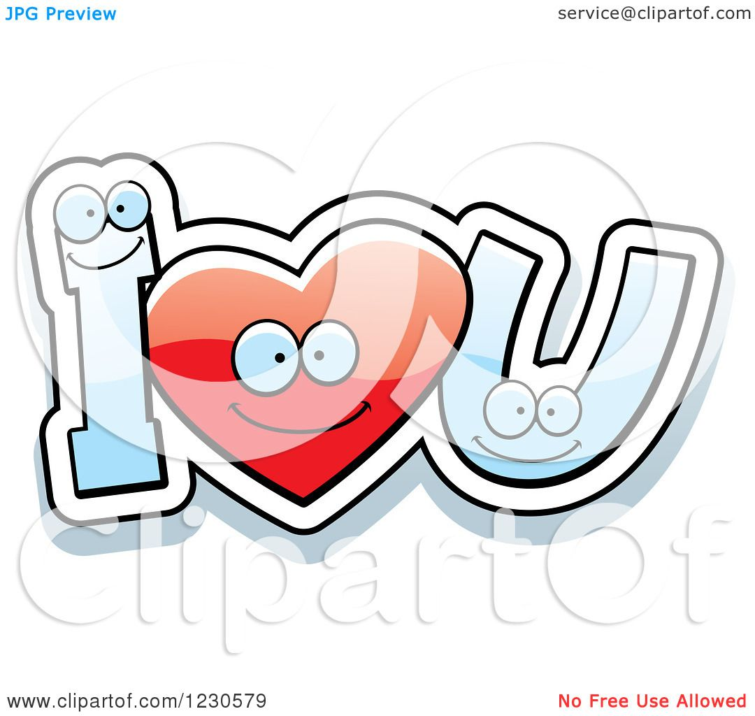 1080x1024 Clipart Of A Happy Red Heart And Letters Forming I Love You