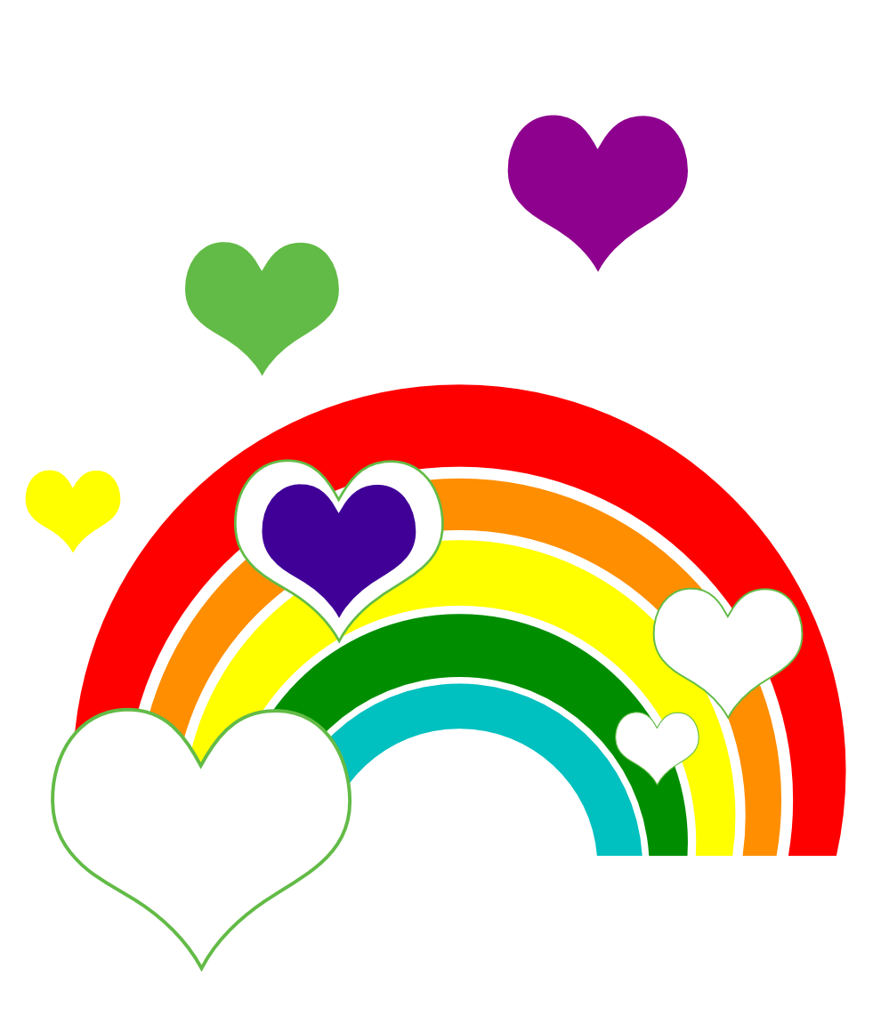 999x1150 Clip Art Reading Rainbow Marriage Equality I
