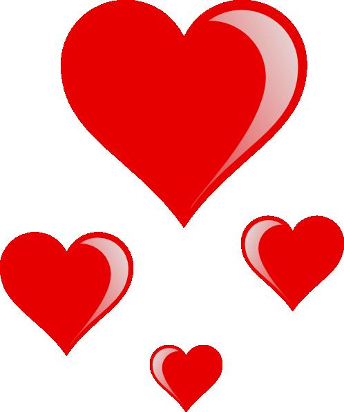 498x597 Heart Cluster Clip Art