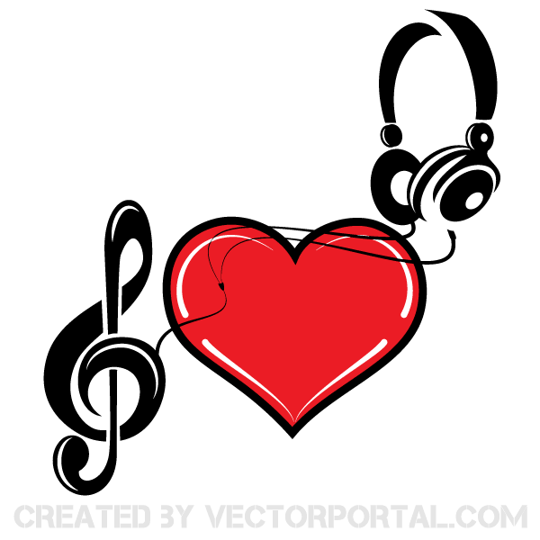 600x600 Music Of Love Heart Vector Art Free Valentine's Day Vector