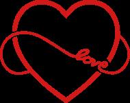 190x150 Neverending Love Vector Heart 1c Hoodie Spreadshirt