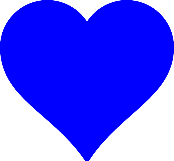 600x557 Blue Heart Png, Svg Clip Art For Web