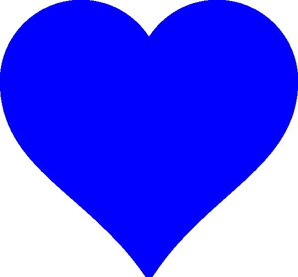 600x557 Blue Heart Png, Svg Clip Art For Web