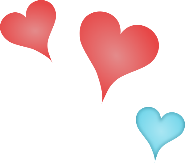600x528 Three Hearts Svg Downloads