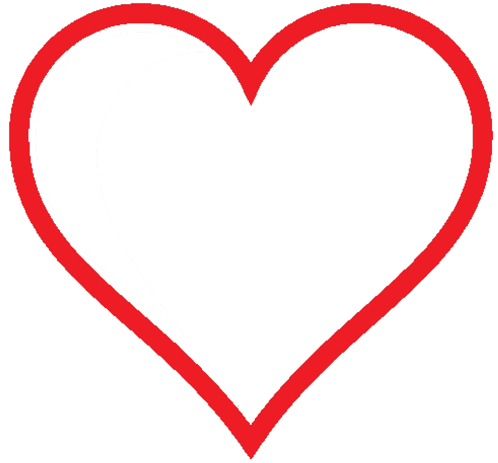 999x930 Clip Art Heart Icon Red Hollow Marriage