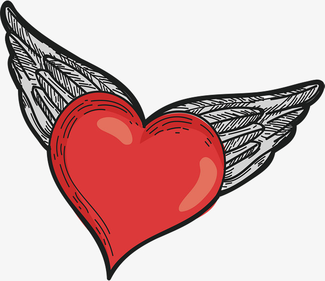 650x563 Long Wings Of Love, Vector Png, Love, Red Love Png And Vector