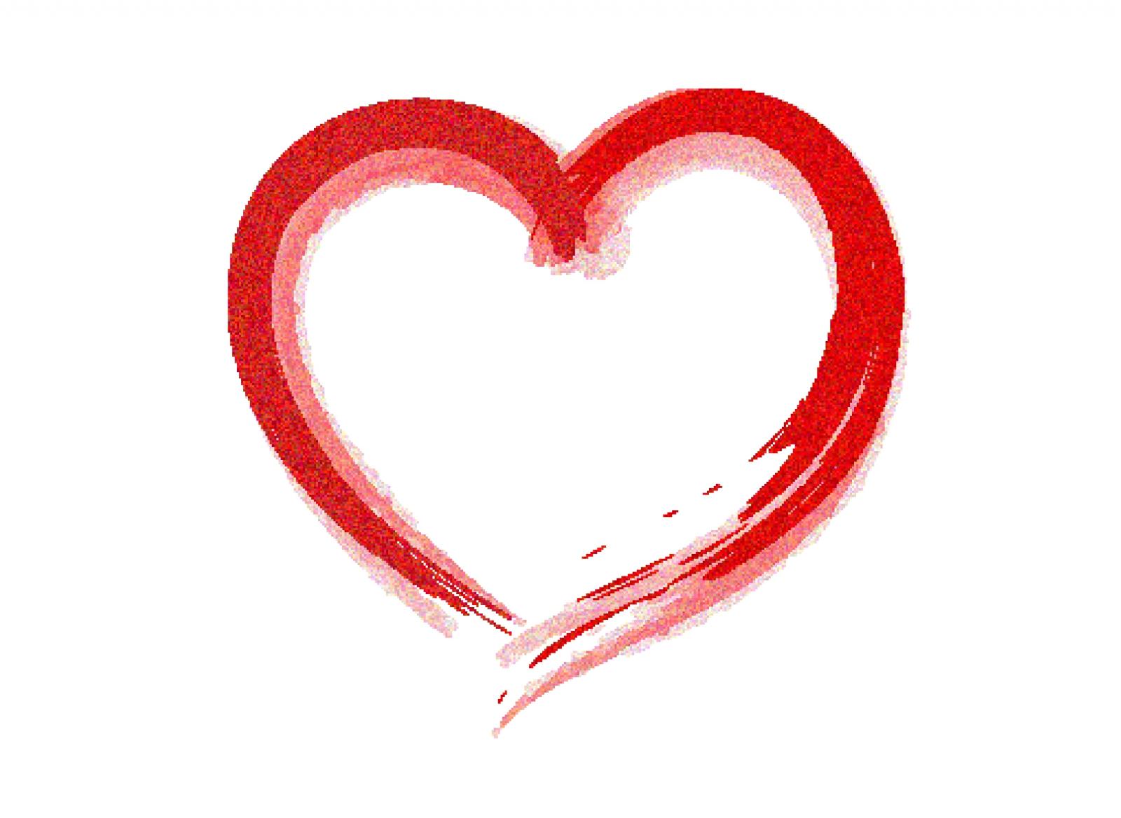 1600x1168 Rough Heart Clip Art For Projects Clip Art