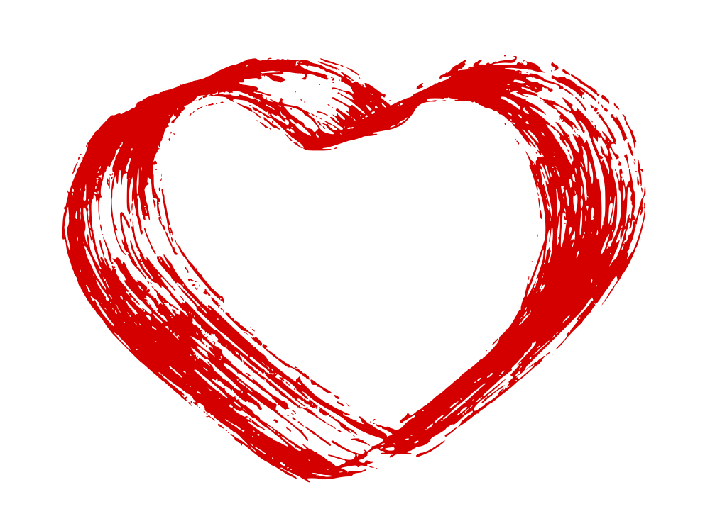 1000x742 Hand Drawn Heart Vector (Eps, Svg, Png)