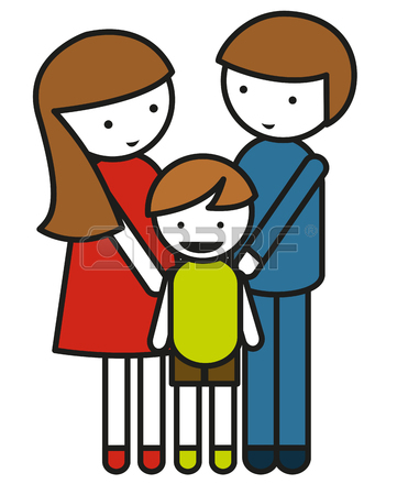 361x450 Family With Parents And Children Illustration Royalty Free