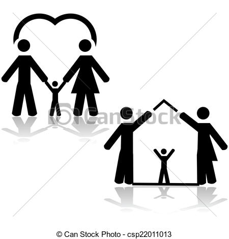 450x470 Family Love Clipart Black And White Collection