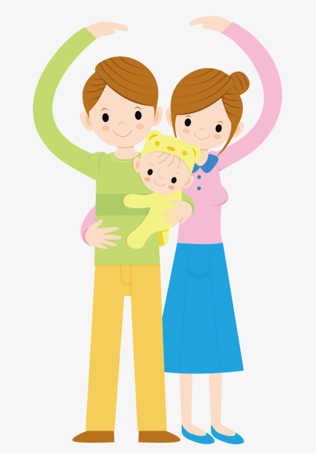 650x930 Loving Family Of Three, Child, Family, Vector Character Png