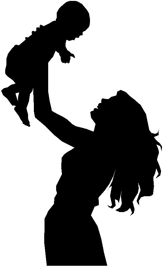 541x873 Mother And Baby Clipart Single Parent Family