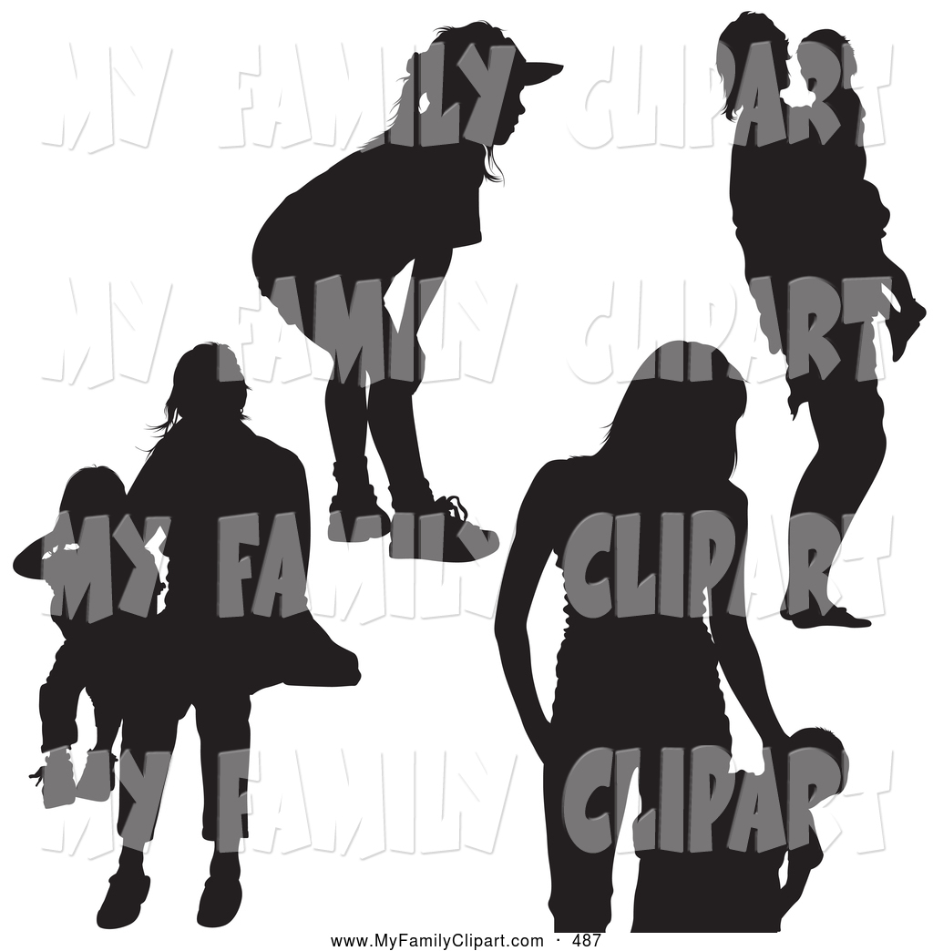 1024x1044 Royalty Free People Silhouette Stock Family Designs
