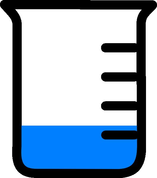528x598 Beaker Low Level Of Solution Clip Art