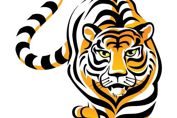 600x400 Free Tiger Logo Clip Art