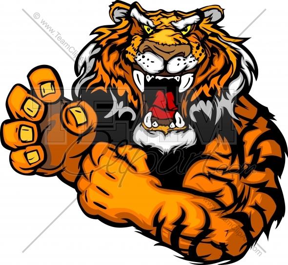 590x543 Tiger Football Mascot Eyes Clipart
