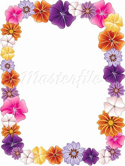 417x550 Hawaiian Luau Border Clipart