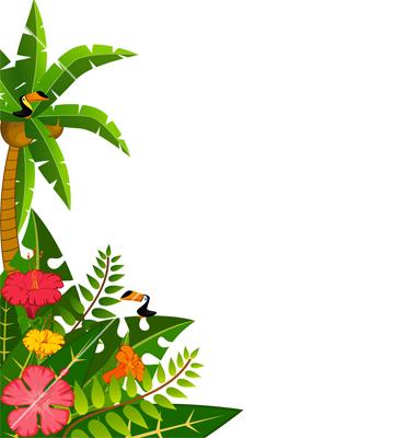 380x400 Hawaiian Luau Border Clipart