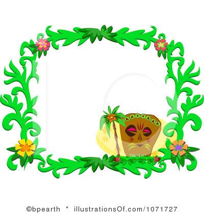 400x420 Hawaiian Tiki Clip Art Borders Clipart Panda