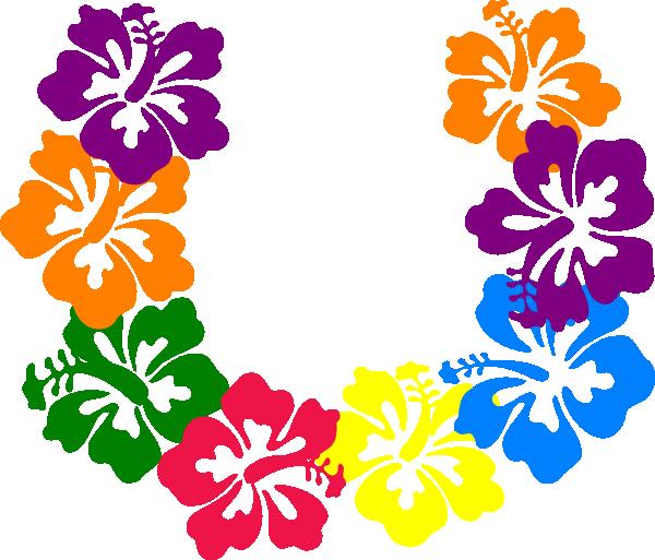 600x513 Hibiscus Lei Clip Art