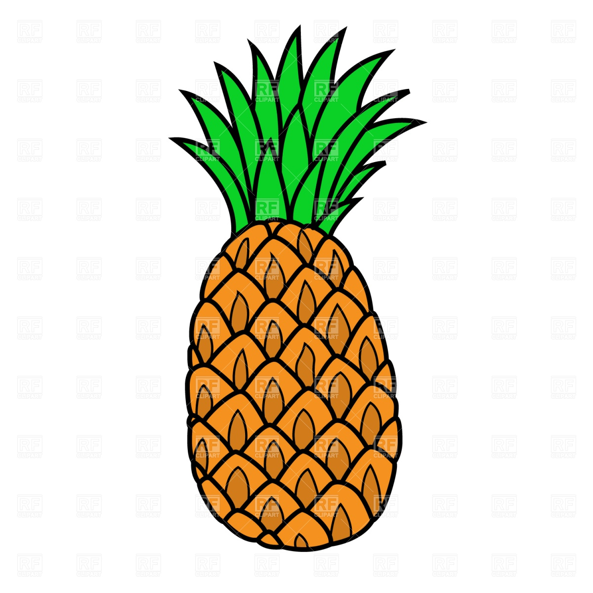 1200x1200 Pineapple Clip Art