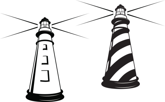 525x326 Free Lighthouse Clipart Black And White