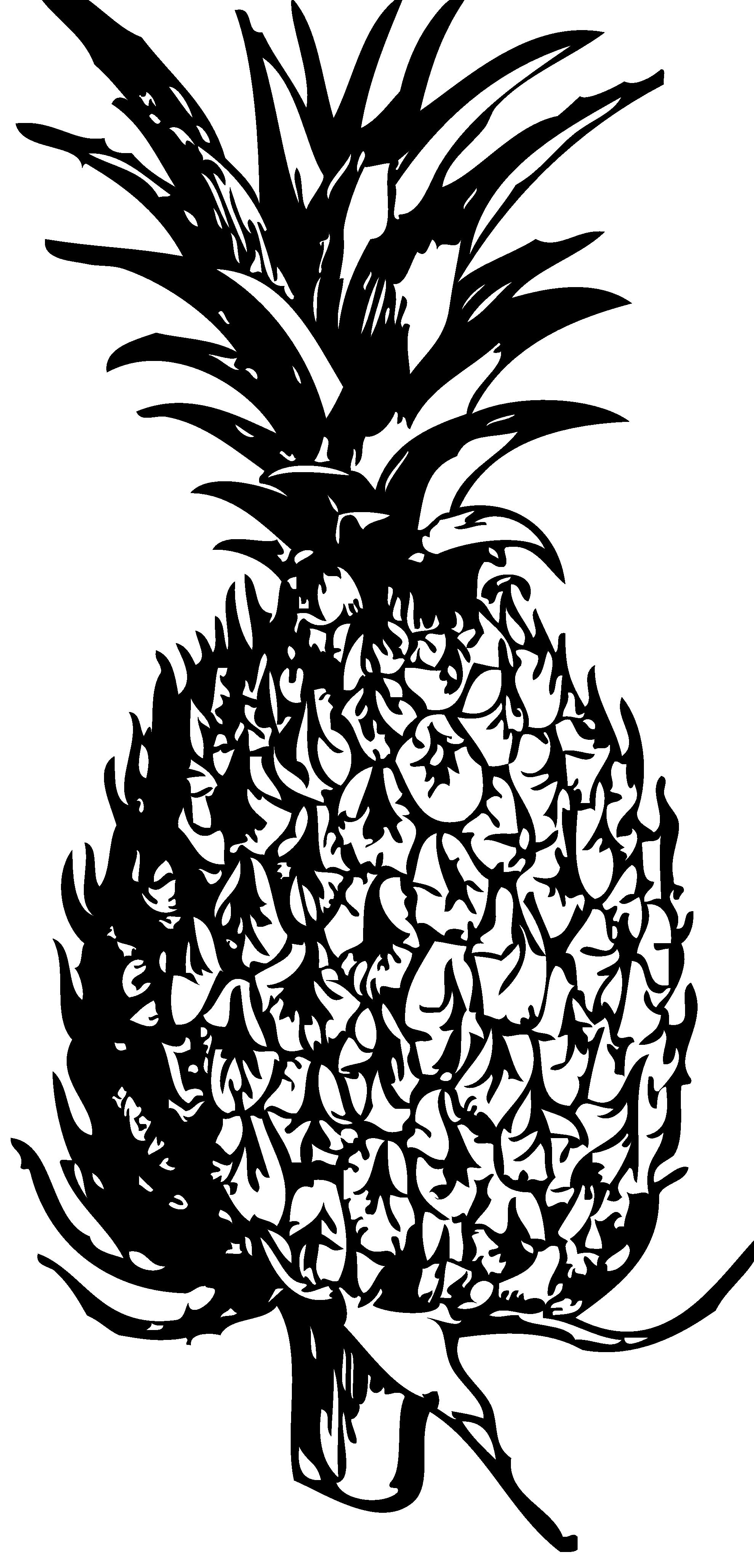 1979x4118 Hawaiian Tribal Clip Art Black And White Clipart Panda