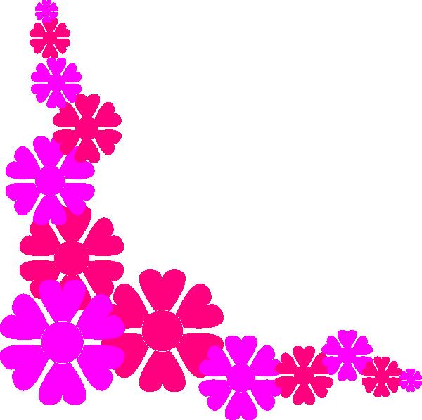 600x597 Hawaii Clipart Floral Corner Borders