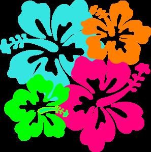 297x299 Hawaiian Flowers Clipart