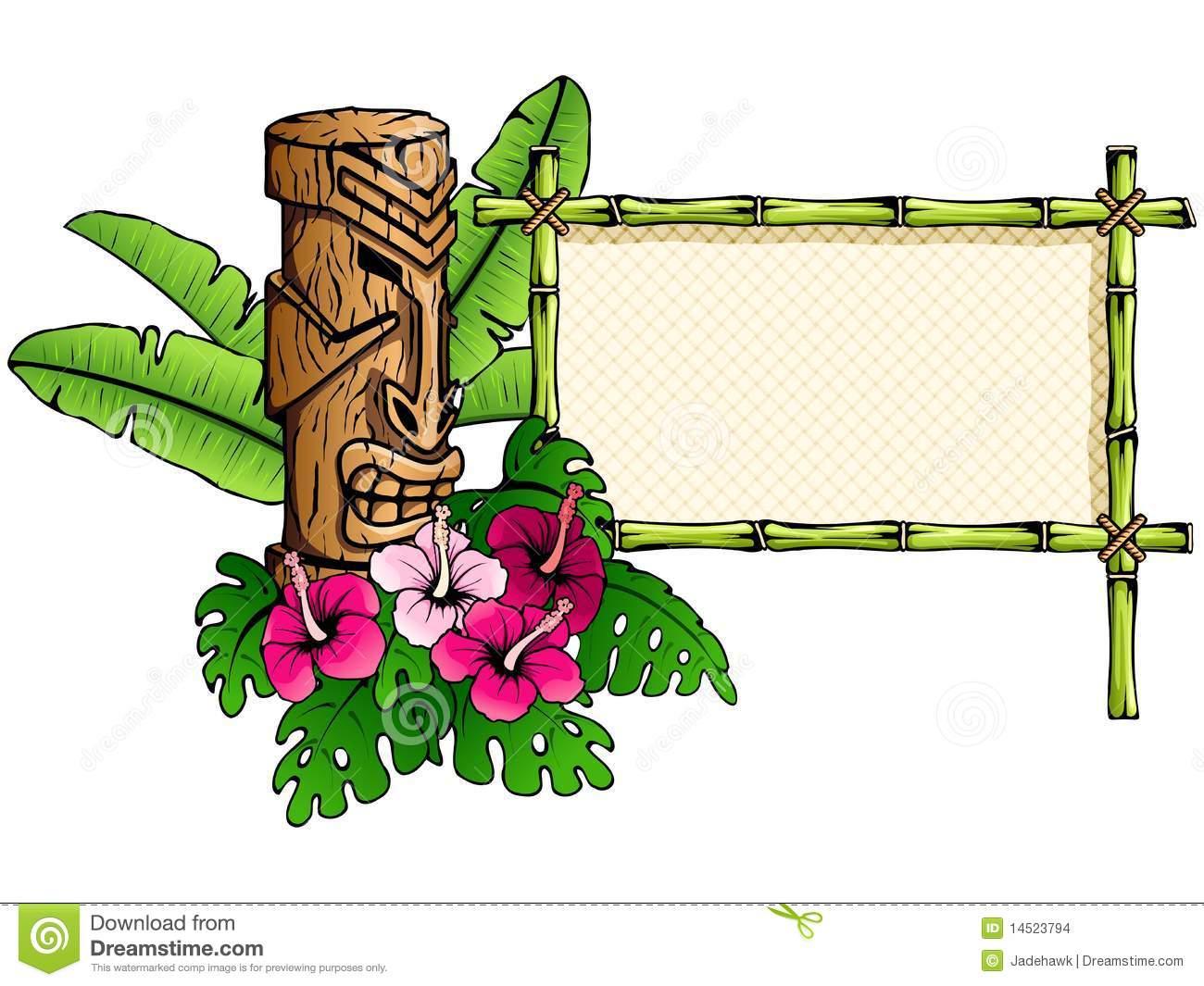 1300x1065 Luau Tiki Flowers Clipart