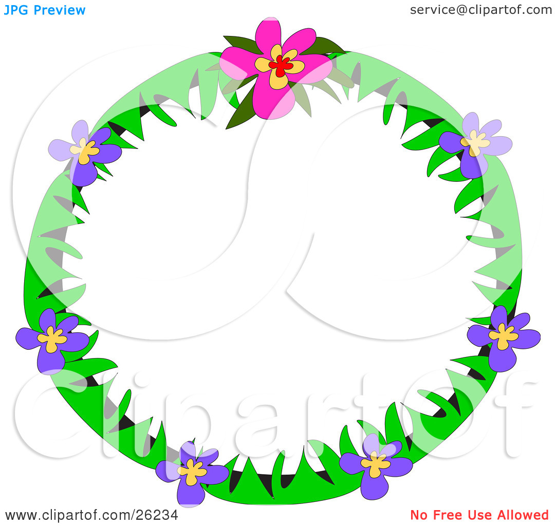 1080x1024 Purple Flower Clipart Wallpaper Borders